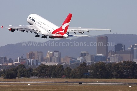 A380 leaving Adelaide